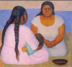 The symbol the Spiritual Companioning program uses for their brochure. Painting by Diego Rivera