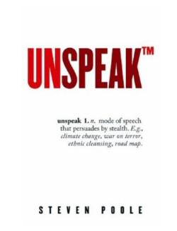 book  - unspeak by steven poole
